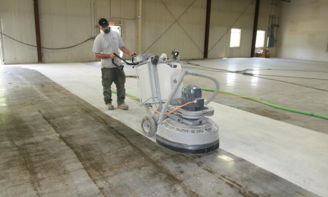 Concrete prep kaloutas painting for Scrubbing concrete floors