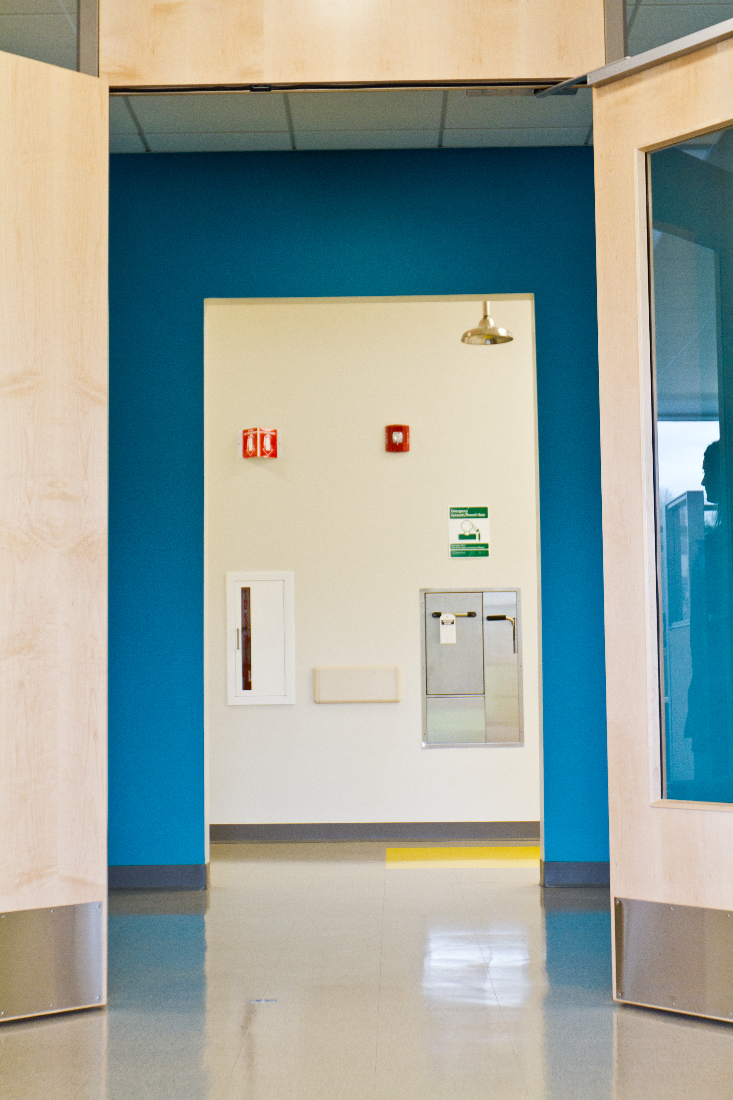Kaloutas painting services in a pharmaceutical facility.